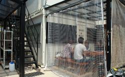 RESTAオリジナル 糸入り透明ビニールカーテン