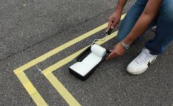 道路や駐車場の線引きはDIYで出来るんです!